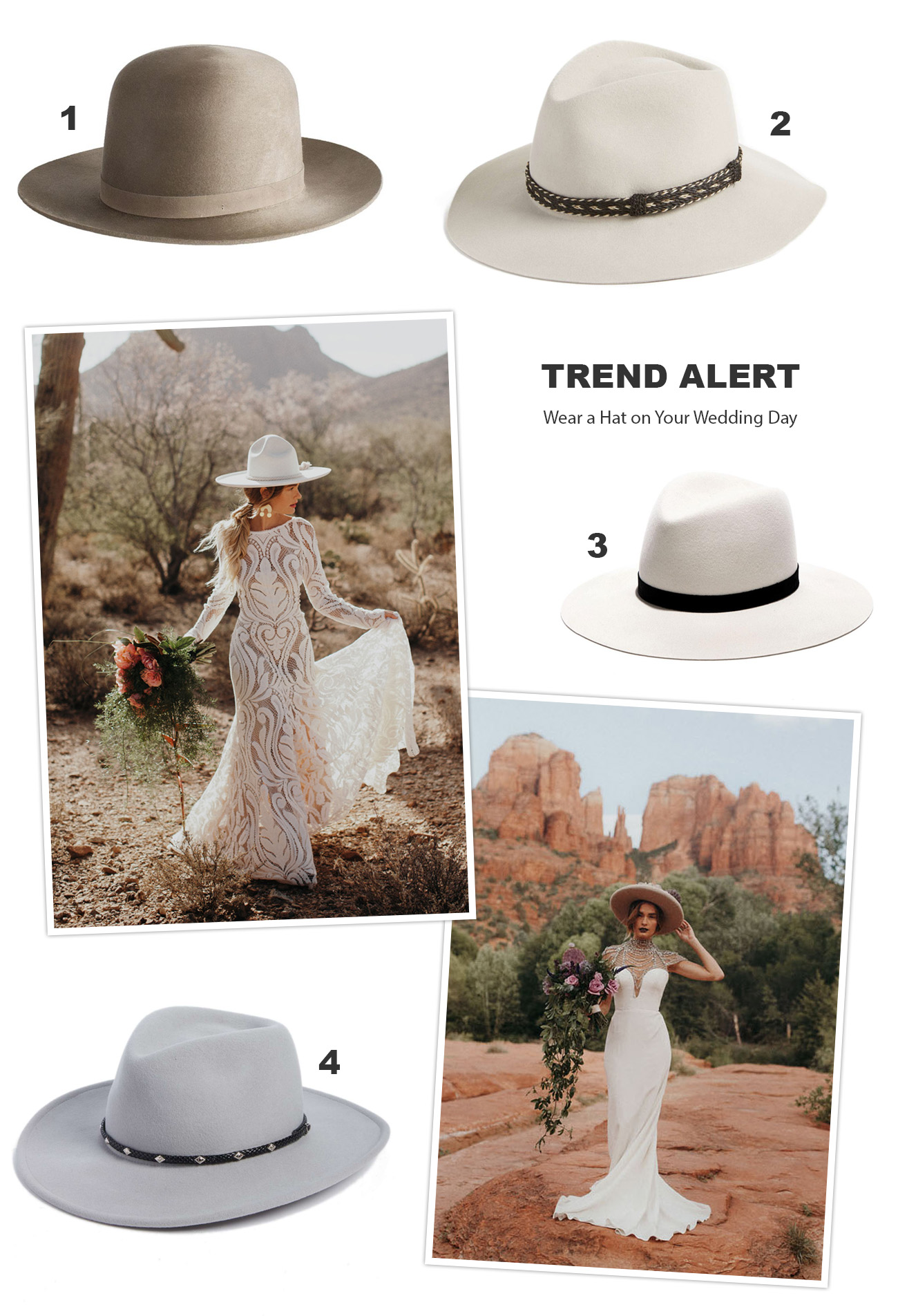Wear a Hat on Your Wedding Day!