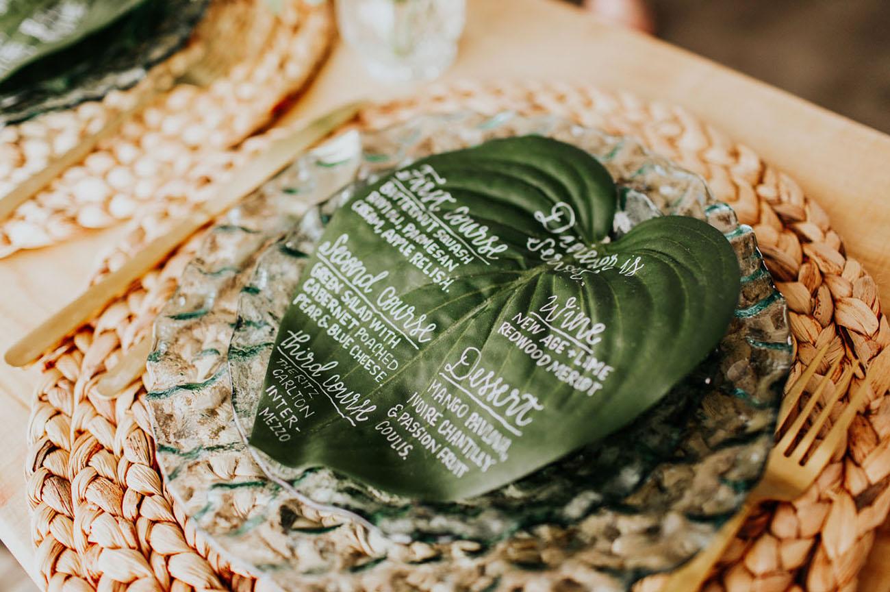 leaf menu