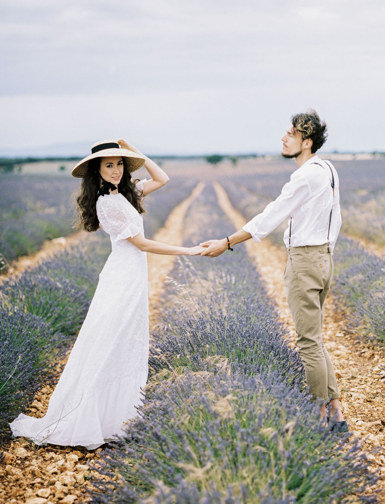 Spain Lavender Field Engagement