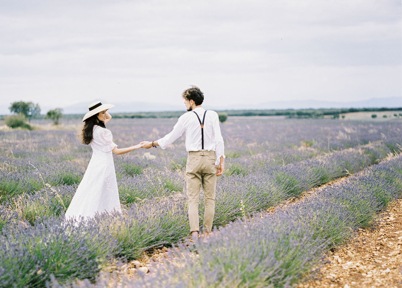 Spain Lavender Field Engagement