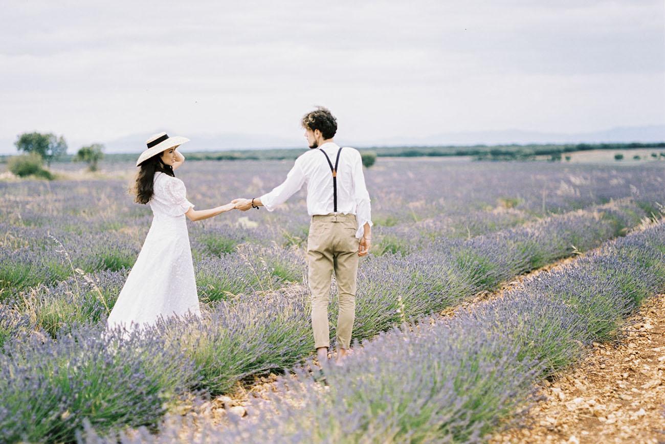 Simple Love + Romance In A Spanish Lavender Field