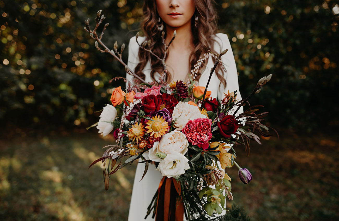 berry fall bouquet
