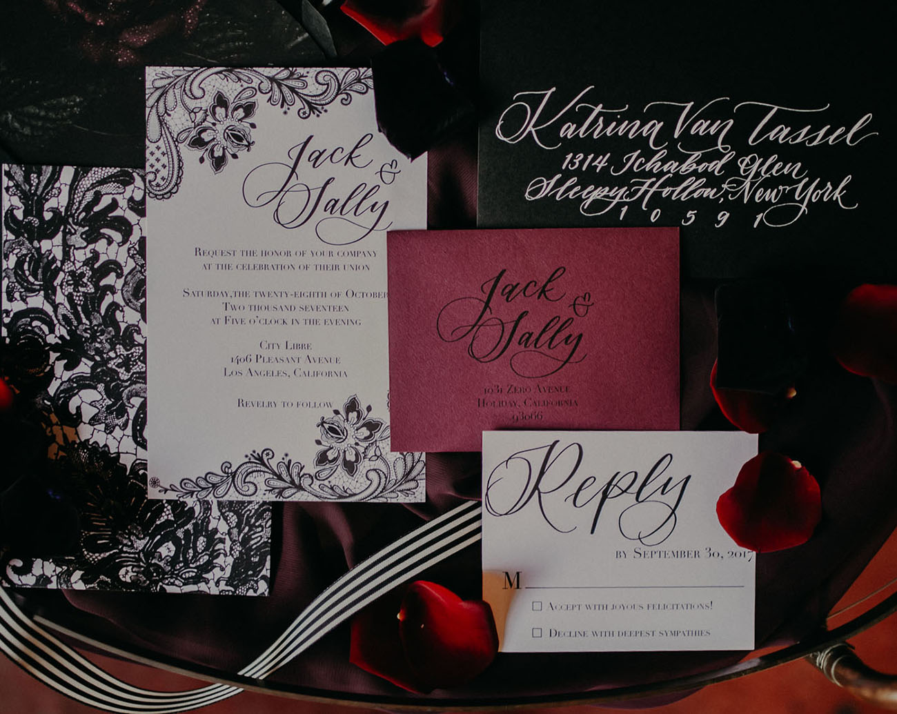 Tim Burton Inspired Invitation