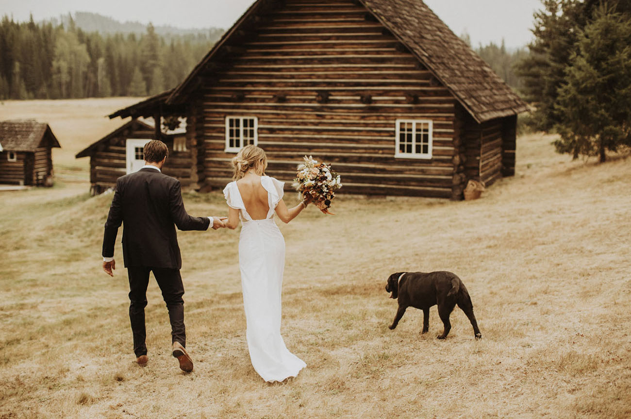 Autumn Priest Lake Cabin Wedding