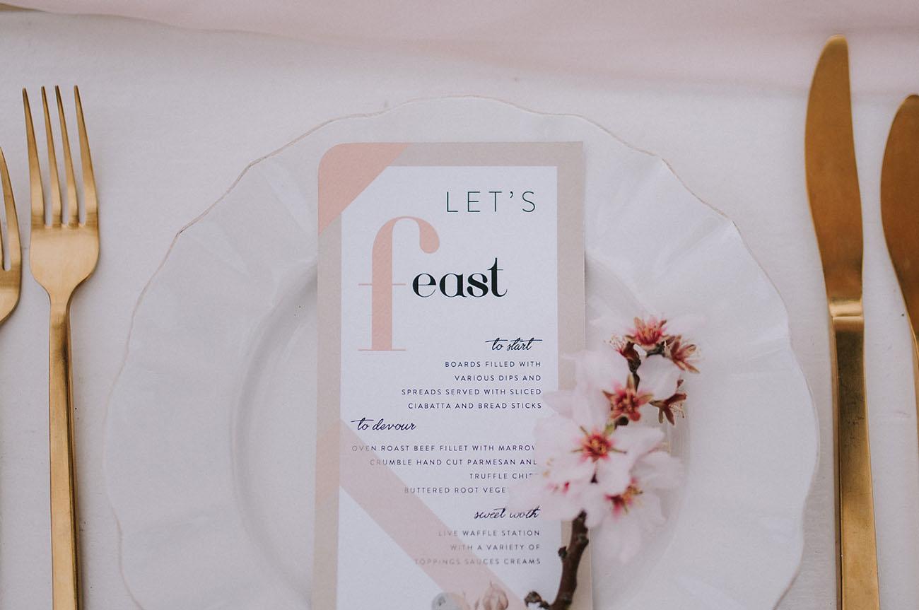 blush dinner menu