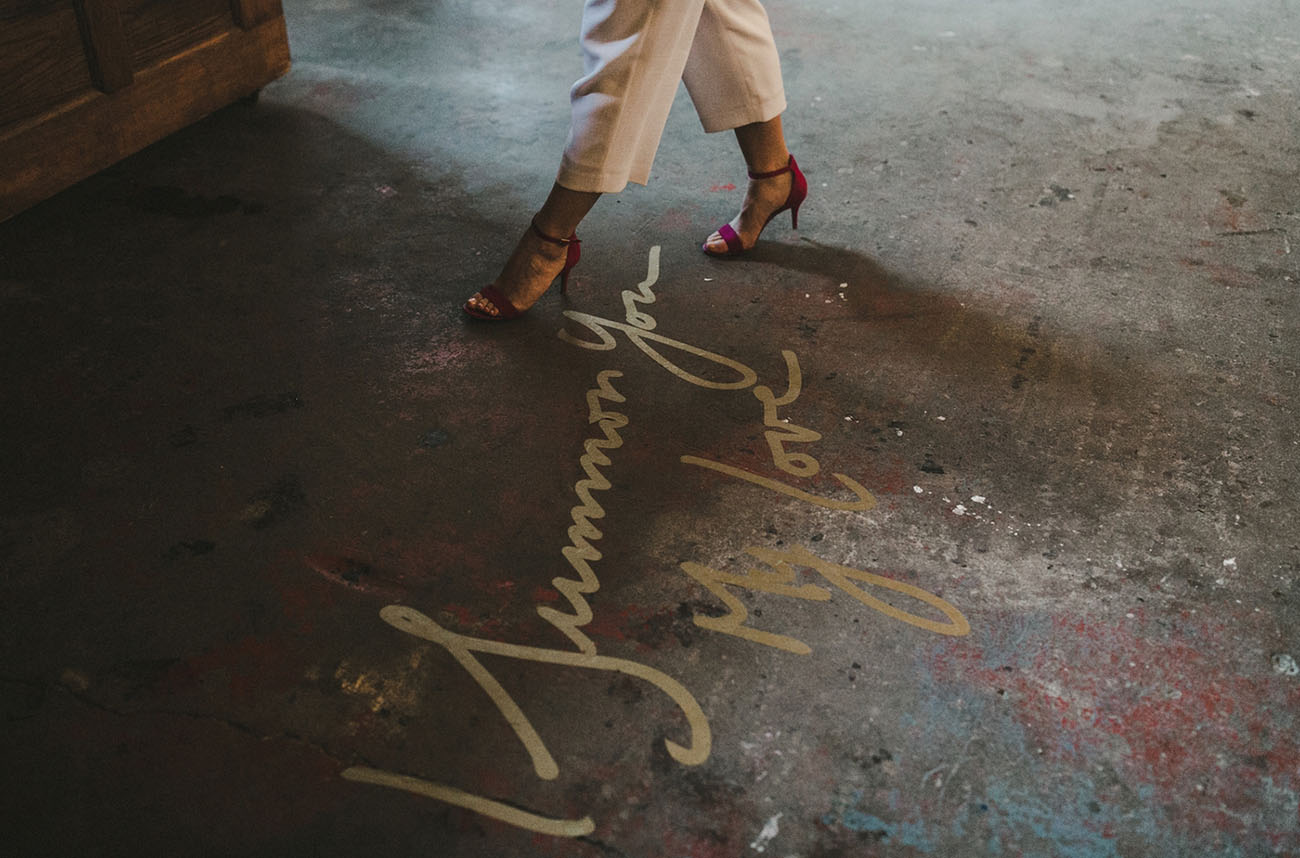 calligraphy dance floor
