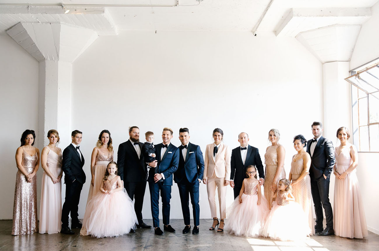 Modern Downtown LA Wedding
