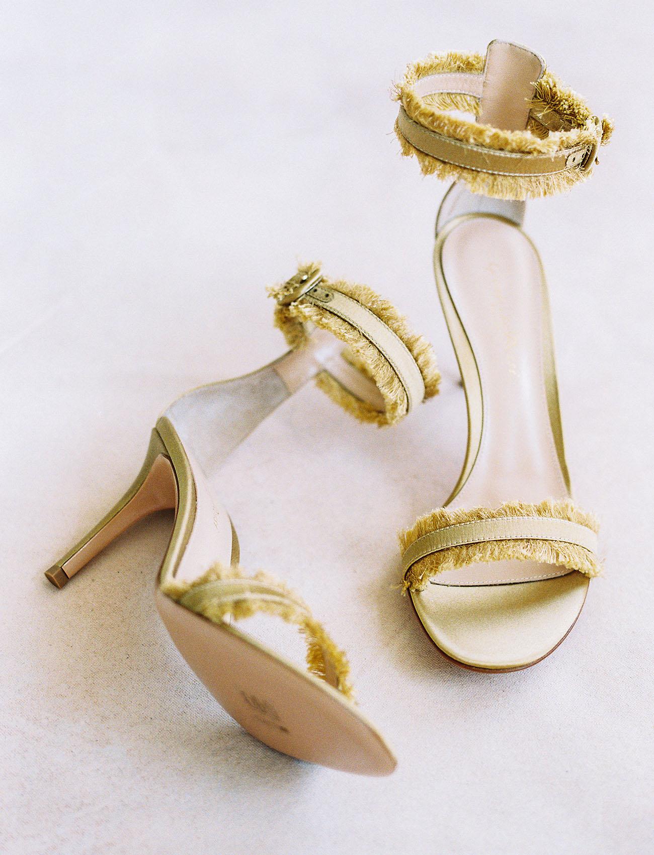 gold fringe heel
