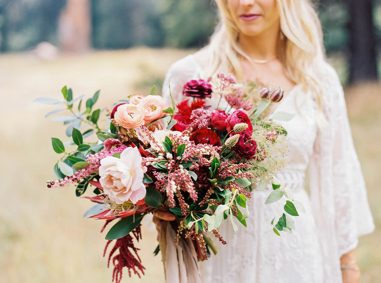 berry rose bouquet