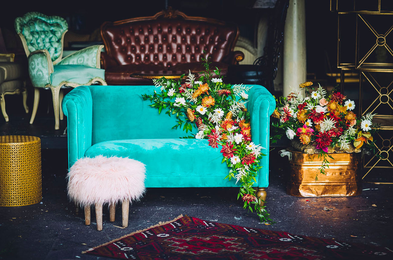 flower couch