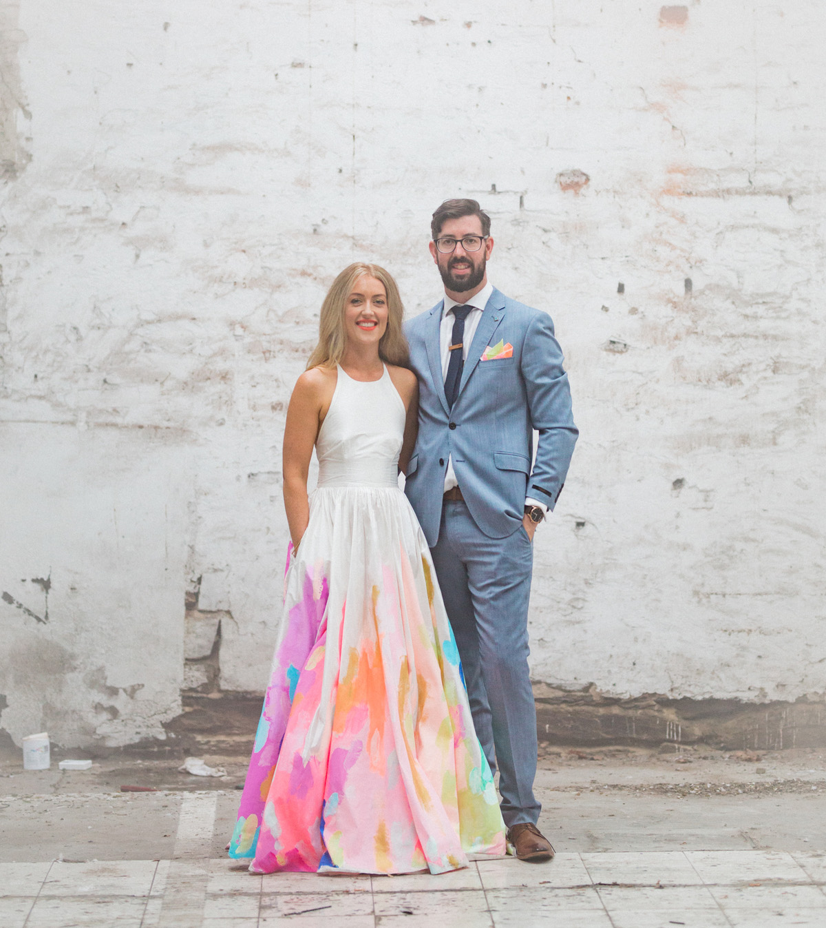 The bride wore a hand painted rainbow wedding dress green wedding the bride wore a hand painted rainbow wedding dress junglespirit