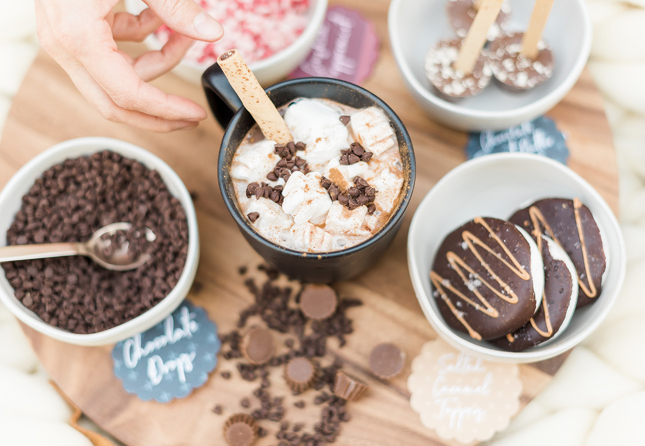 Hot Cocoa with lots of toppings