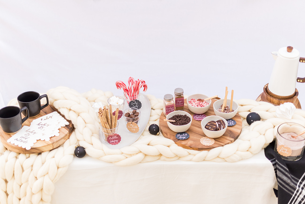 Hot Cocoa Bar with free printables
