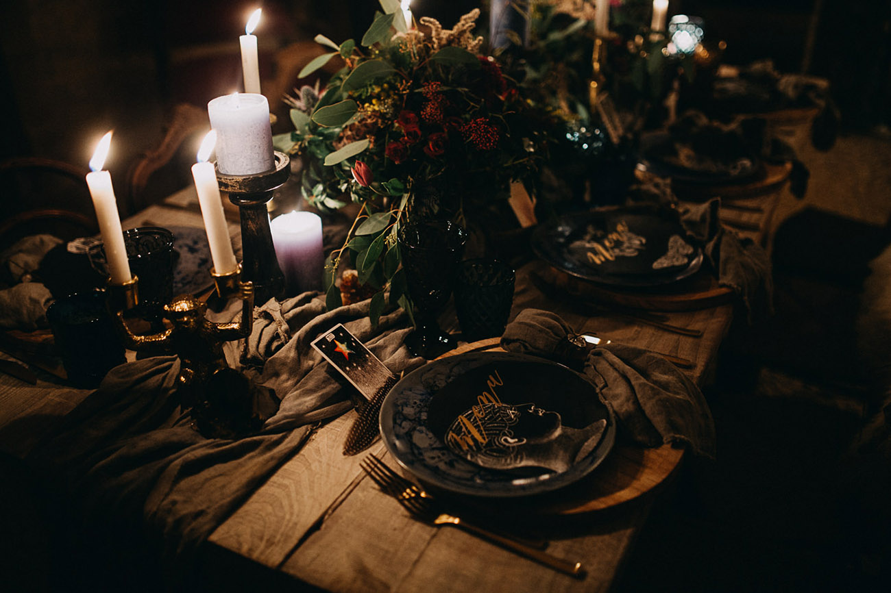 Winter Solstice Tablescape