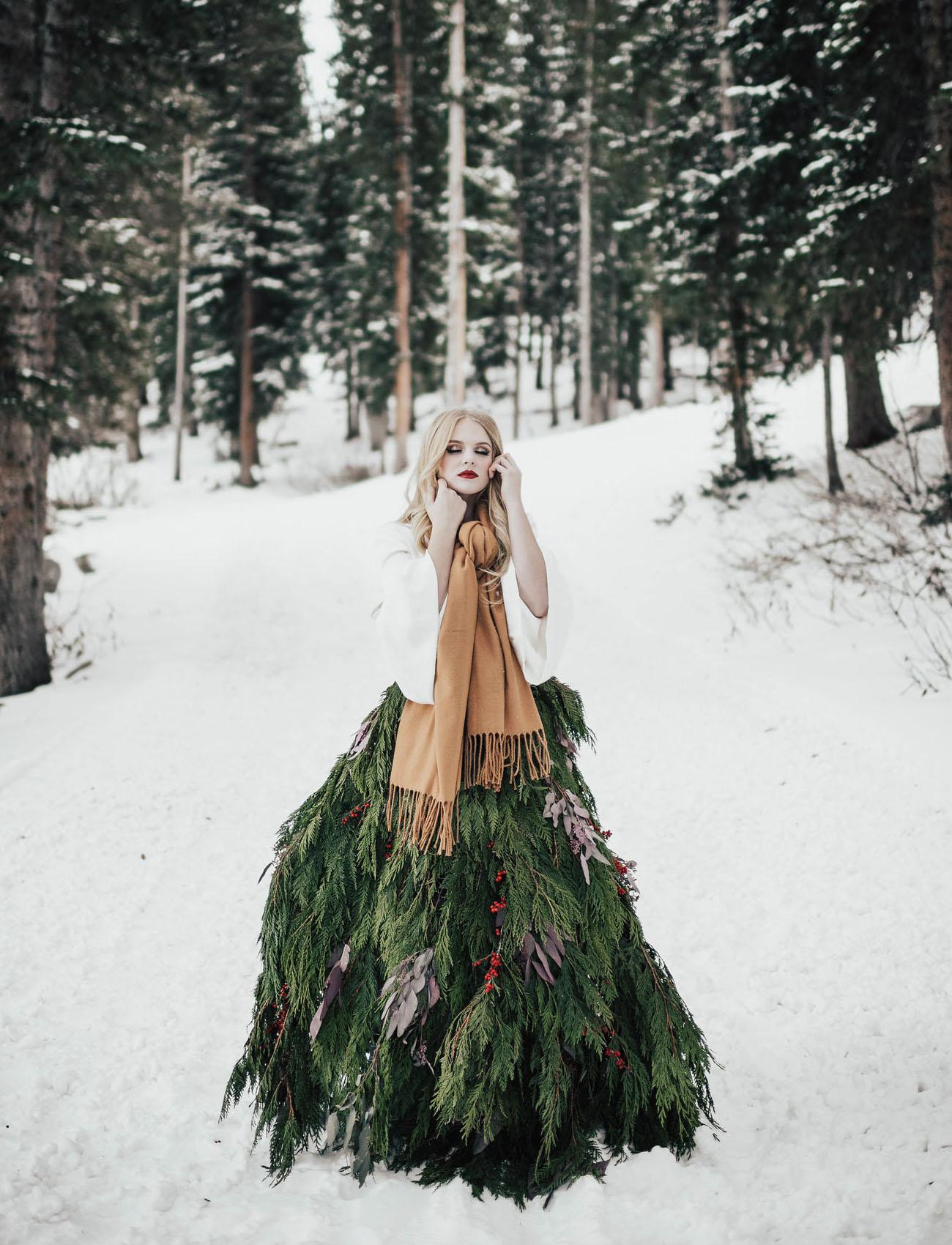 Real Christmas Tree Skirt