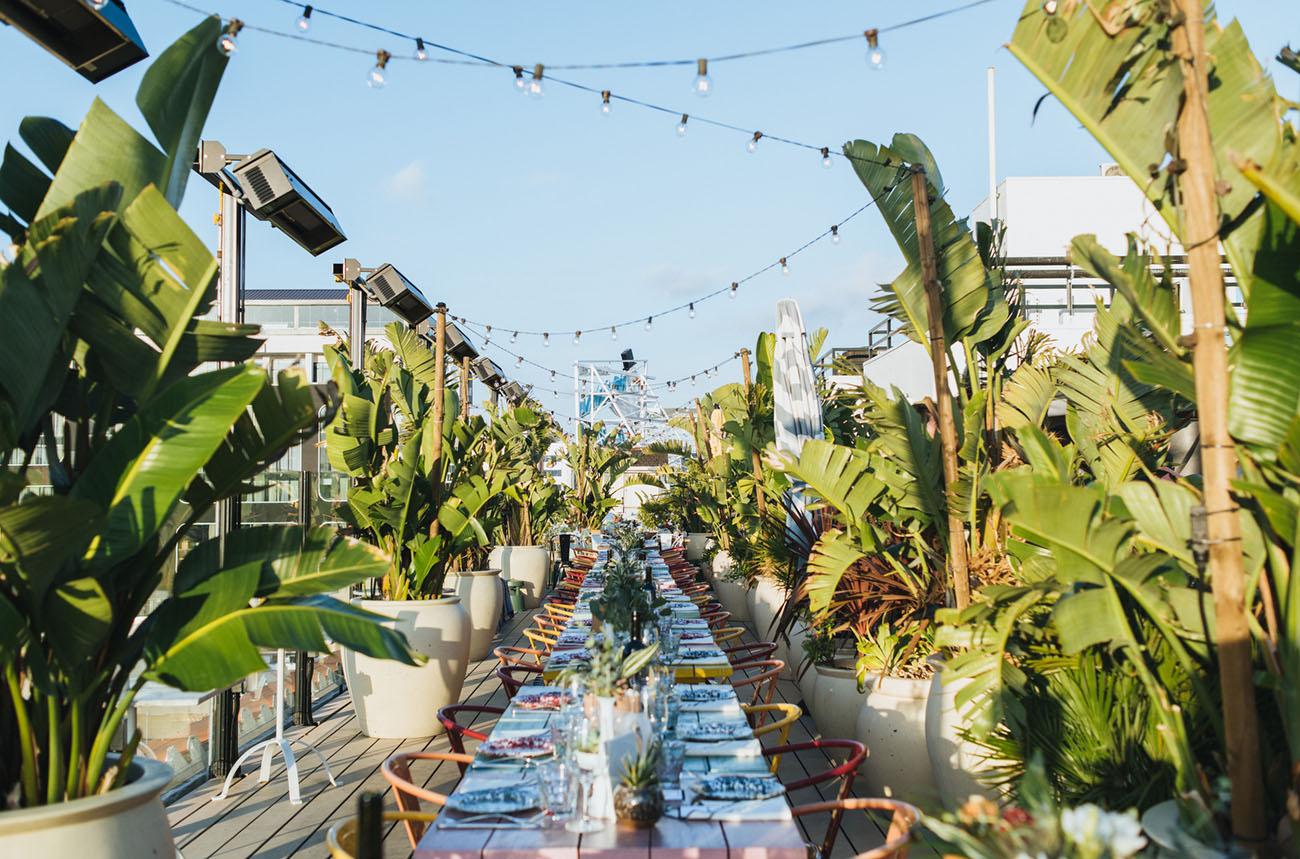 Glam Hollywood Rooftop Wedding