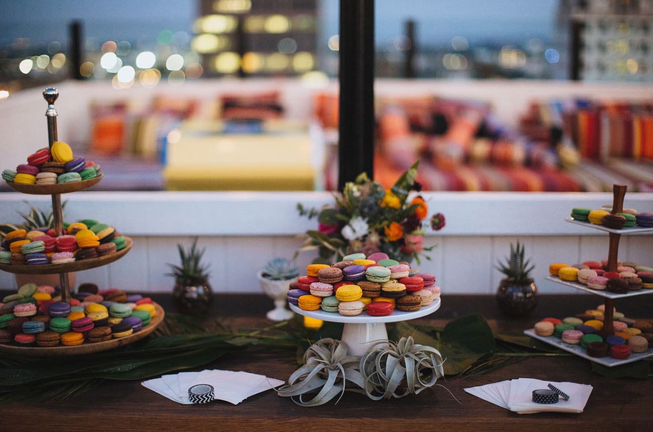 Glam Hollywood Rooftop Wedding