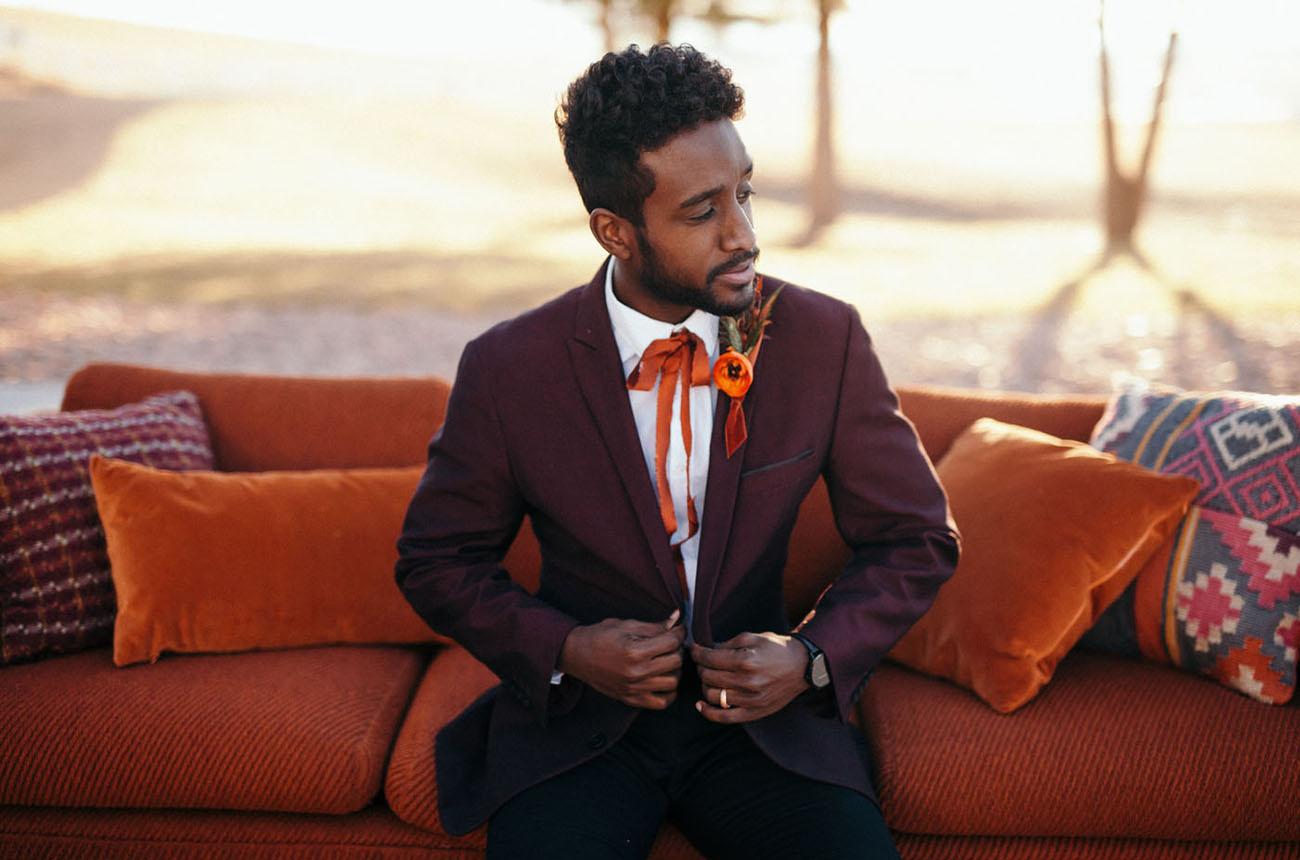 ribbon tie groom