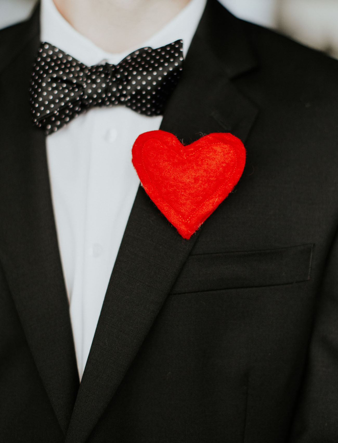 heart boutonniere