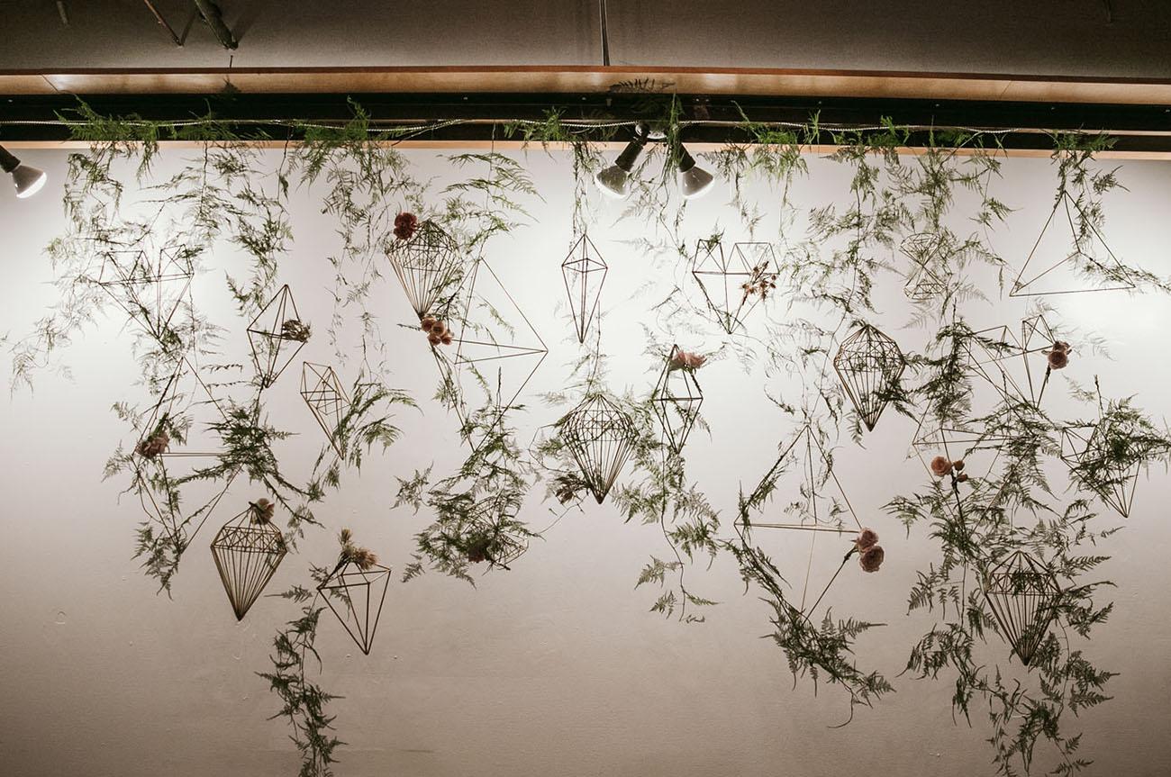 hanging geometric backdrop