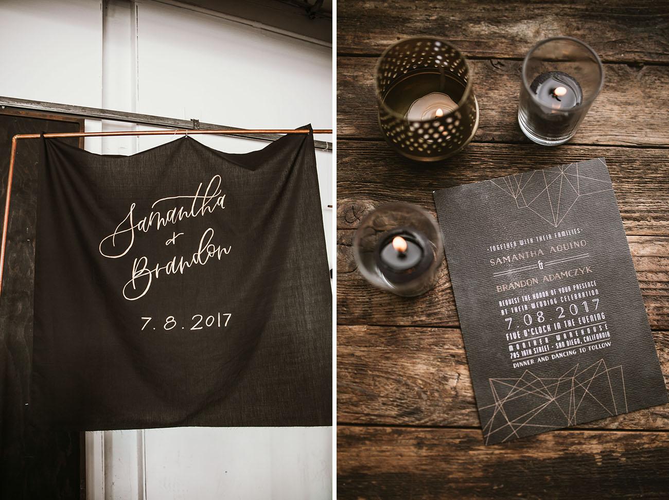Moody Geometric Wedding