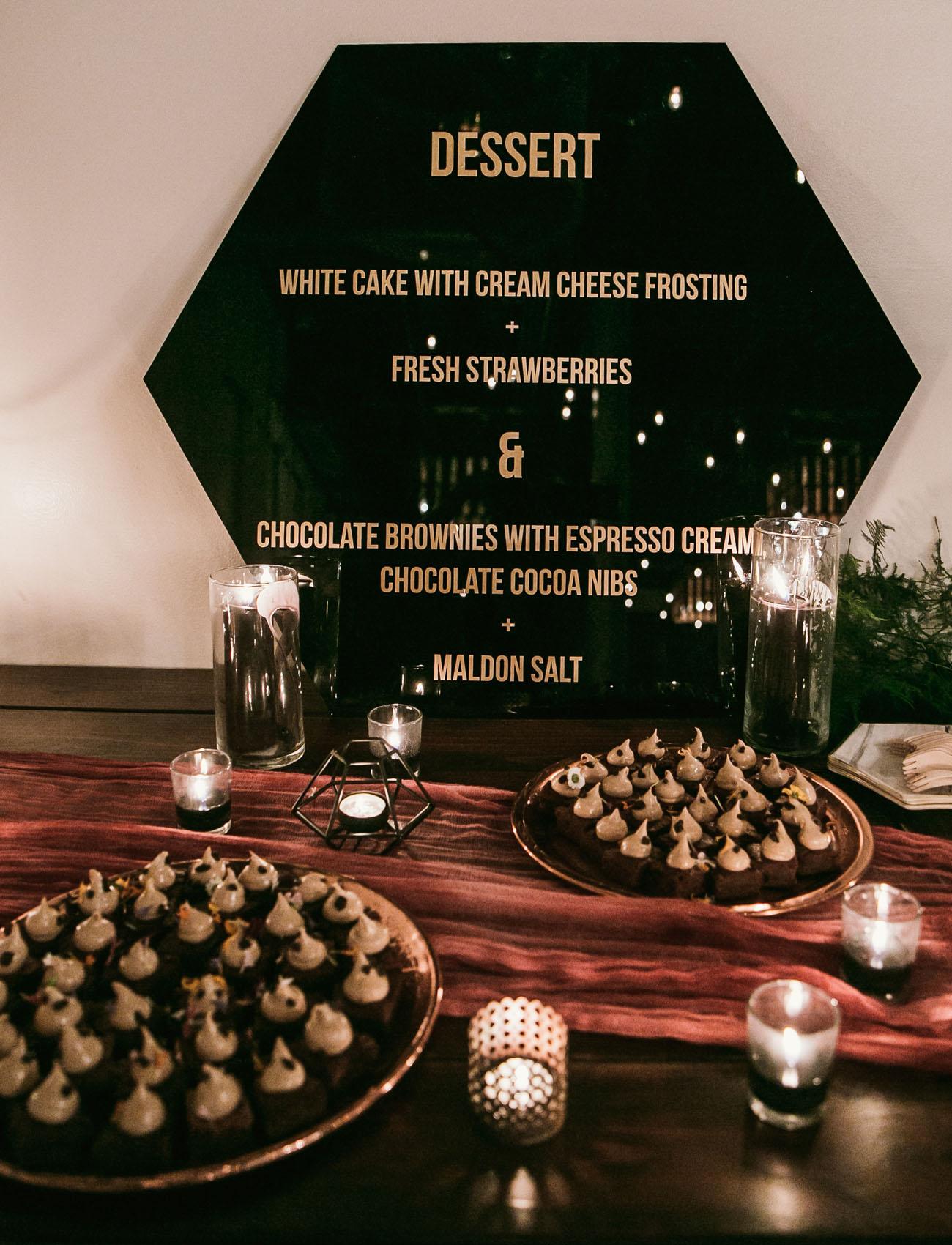 hex dessert menu