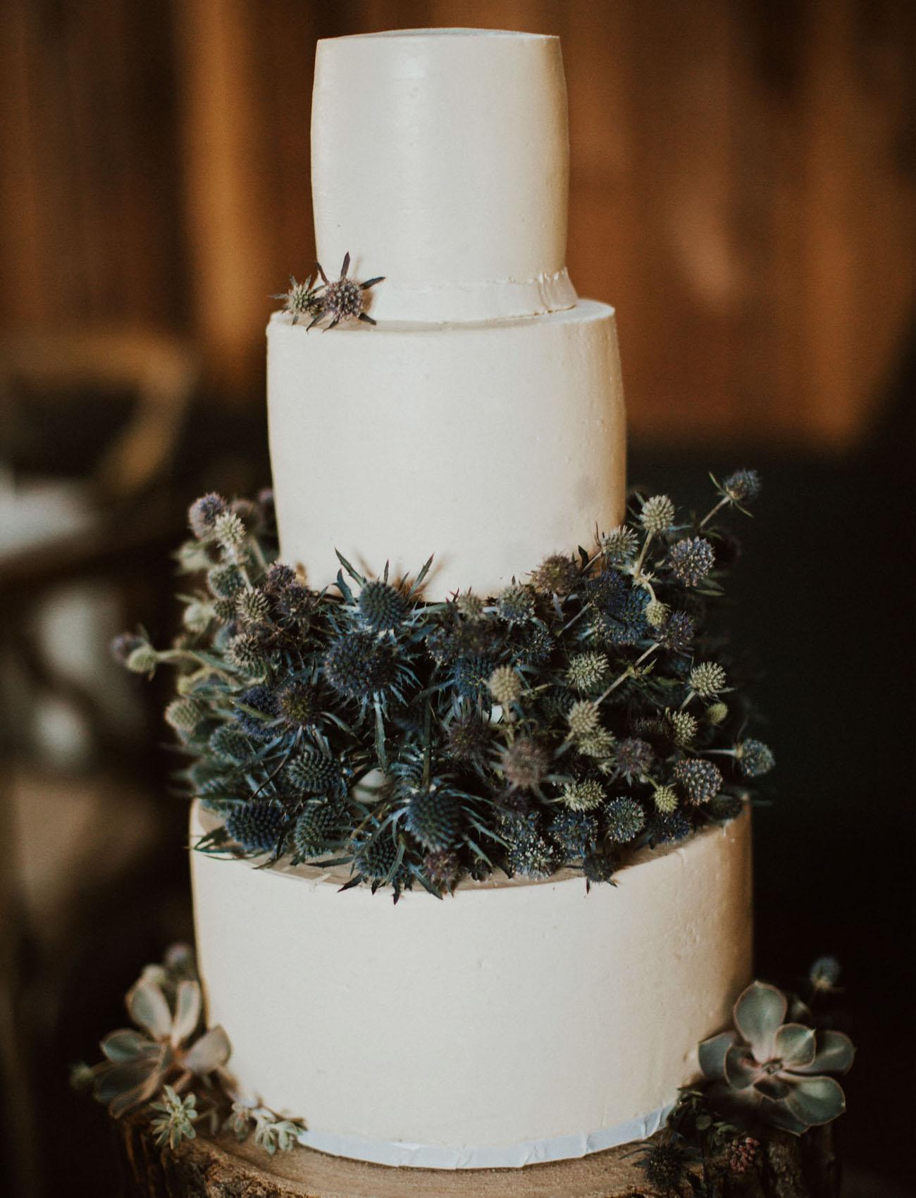 blue thistle cake