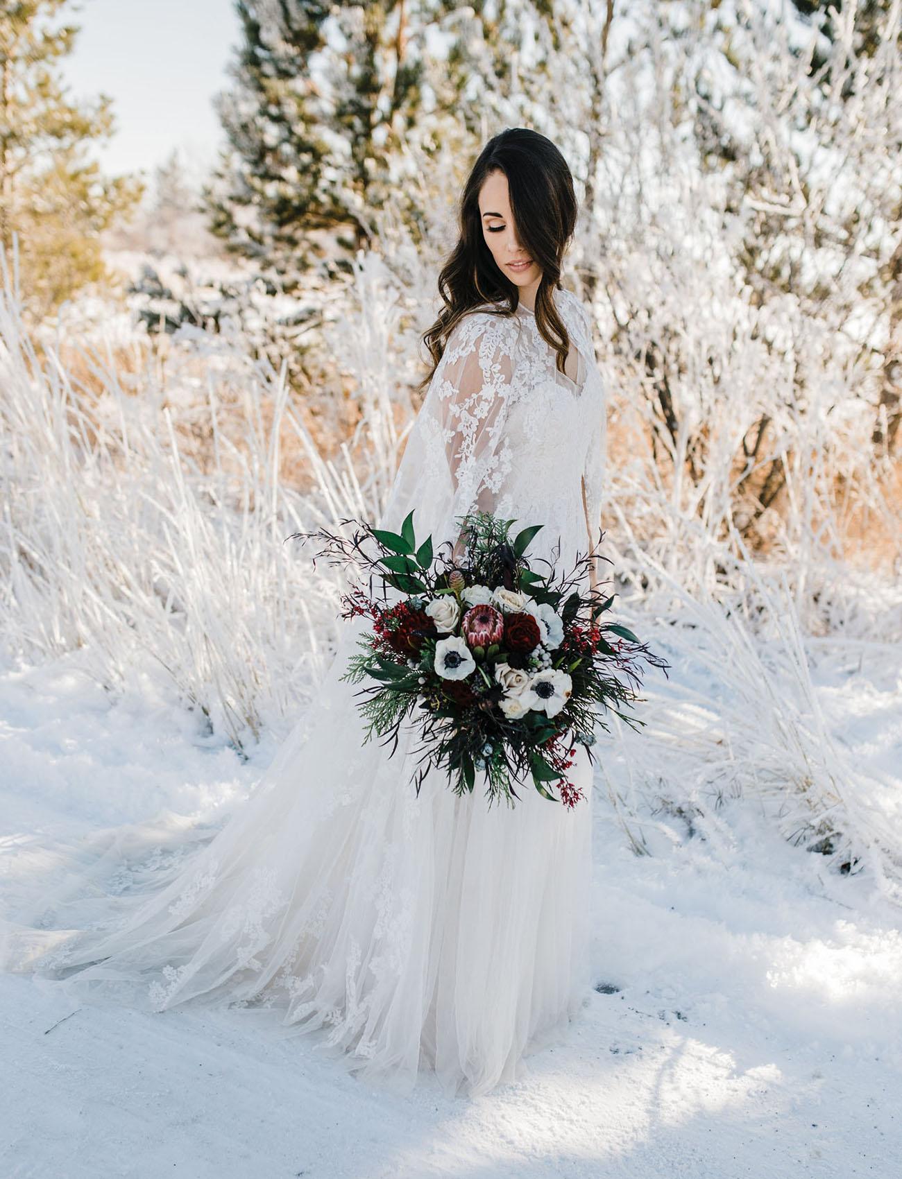 lace bridal cape