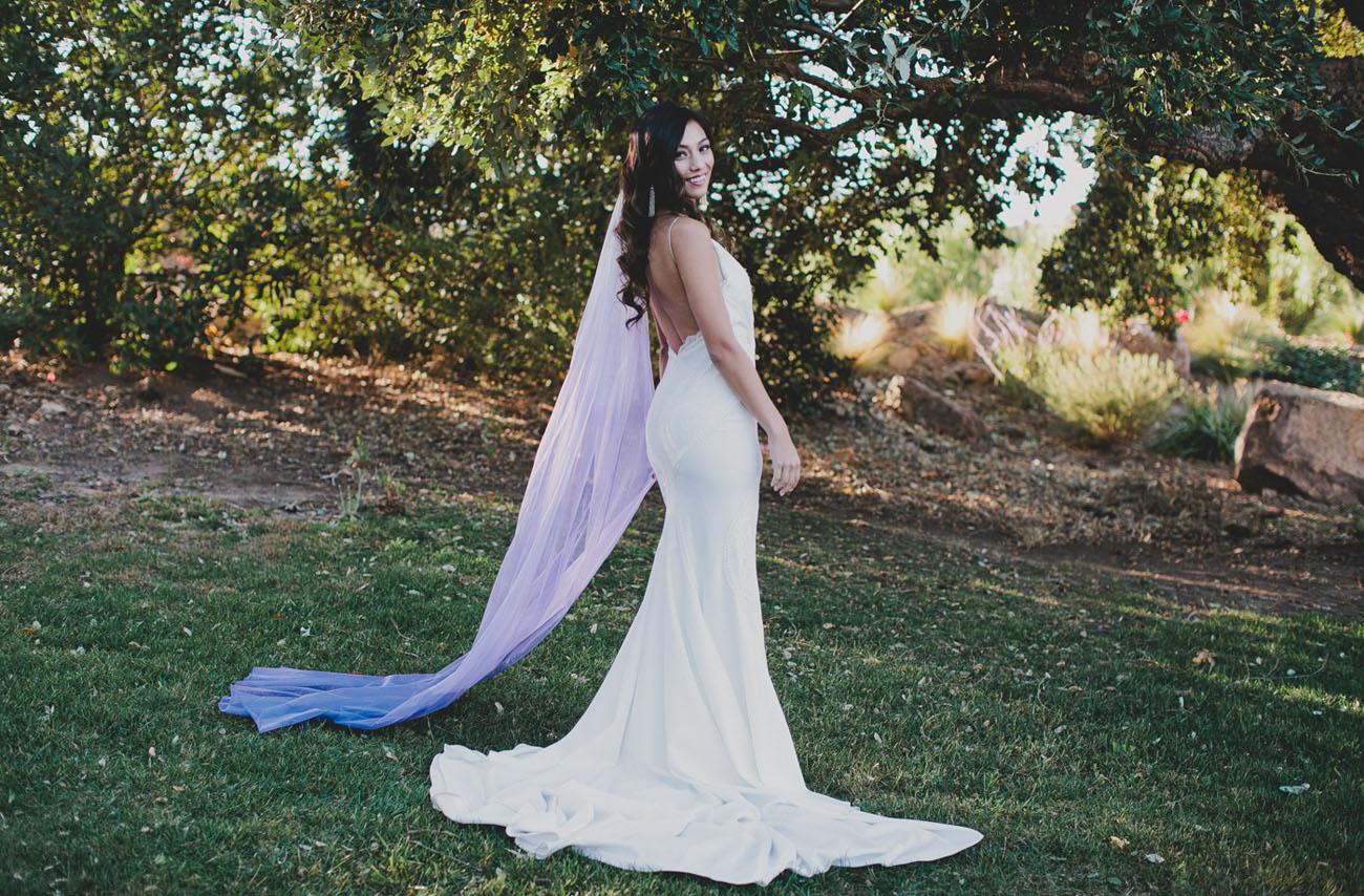 DIY Ultra Violet Veil with Rit Dye