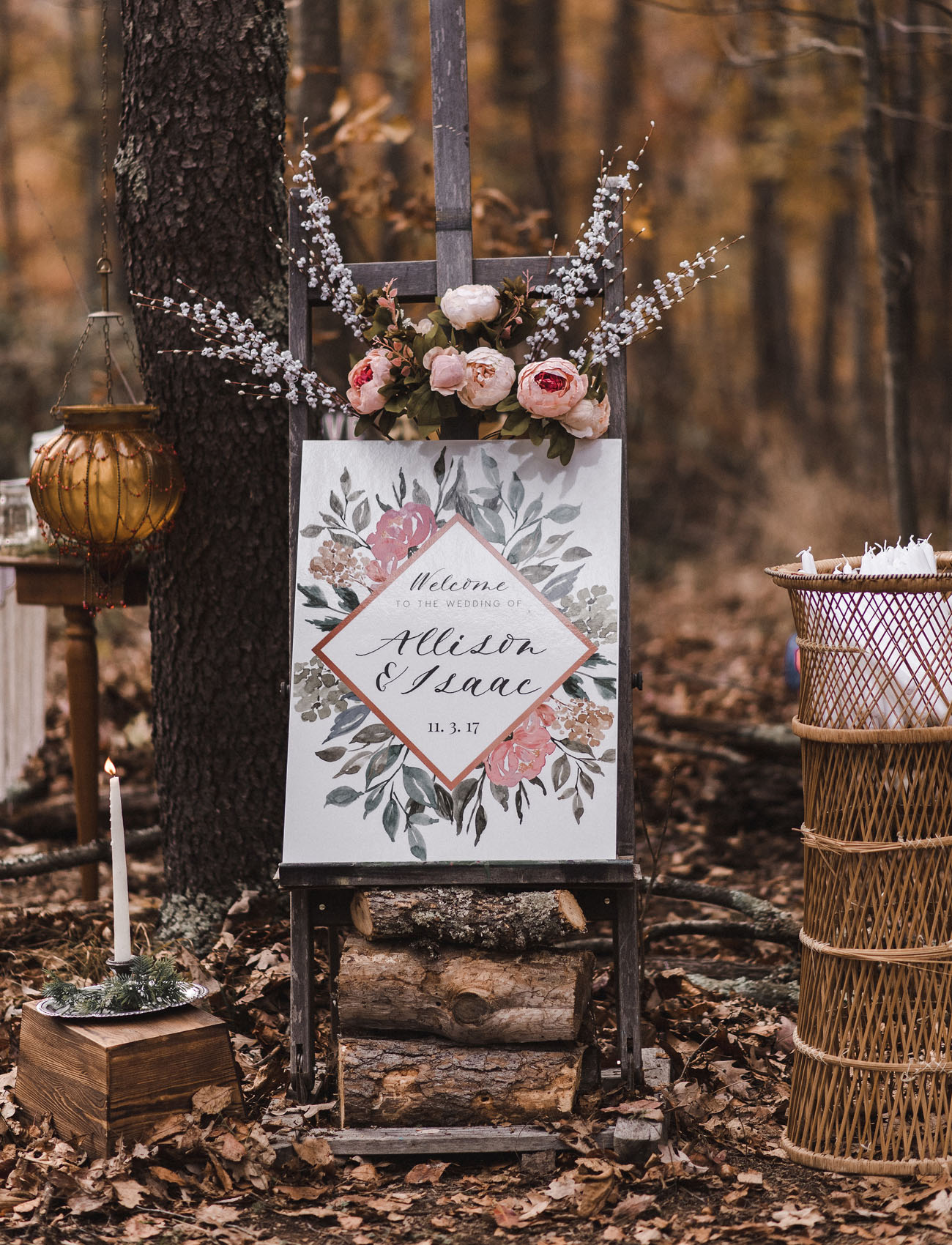boho wedding in the woods