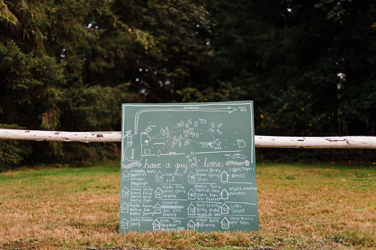 chalkboard signage