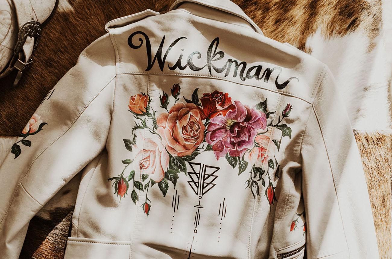 custom bridal jacket