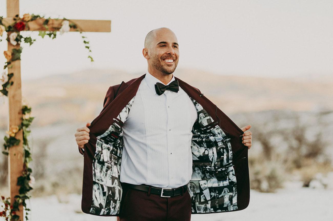 custom groom jacket