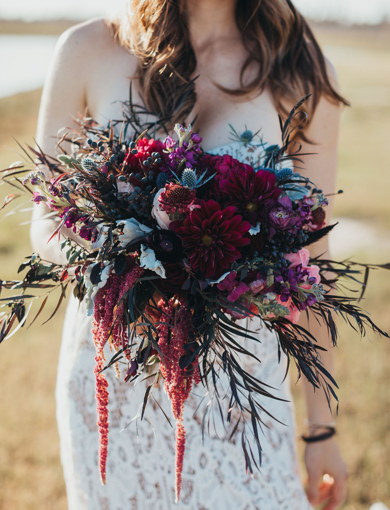 cranberry dahlia bouquet