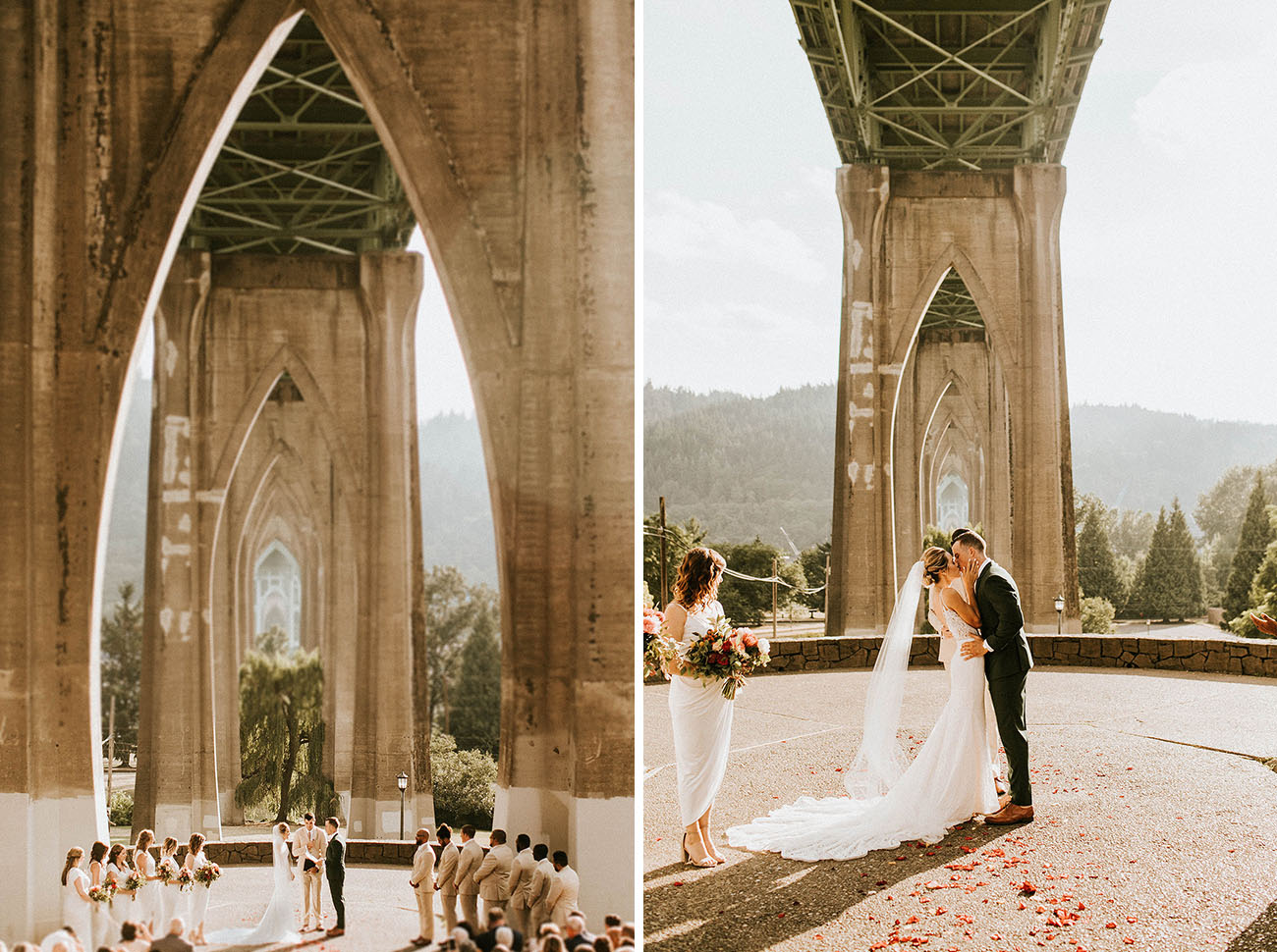 Romantic Cathedral Park Wedding