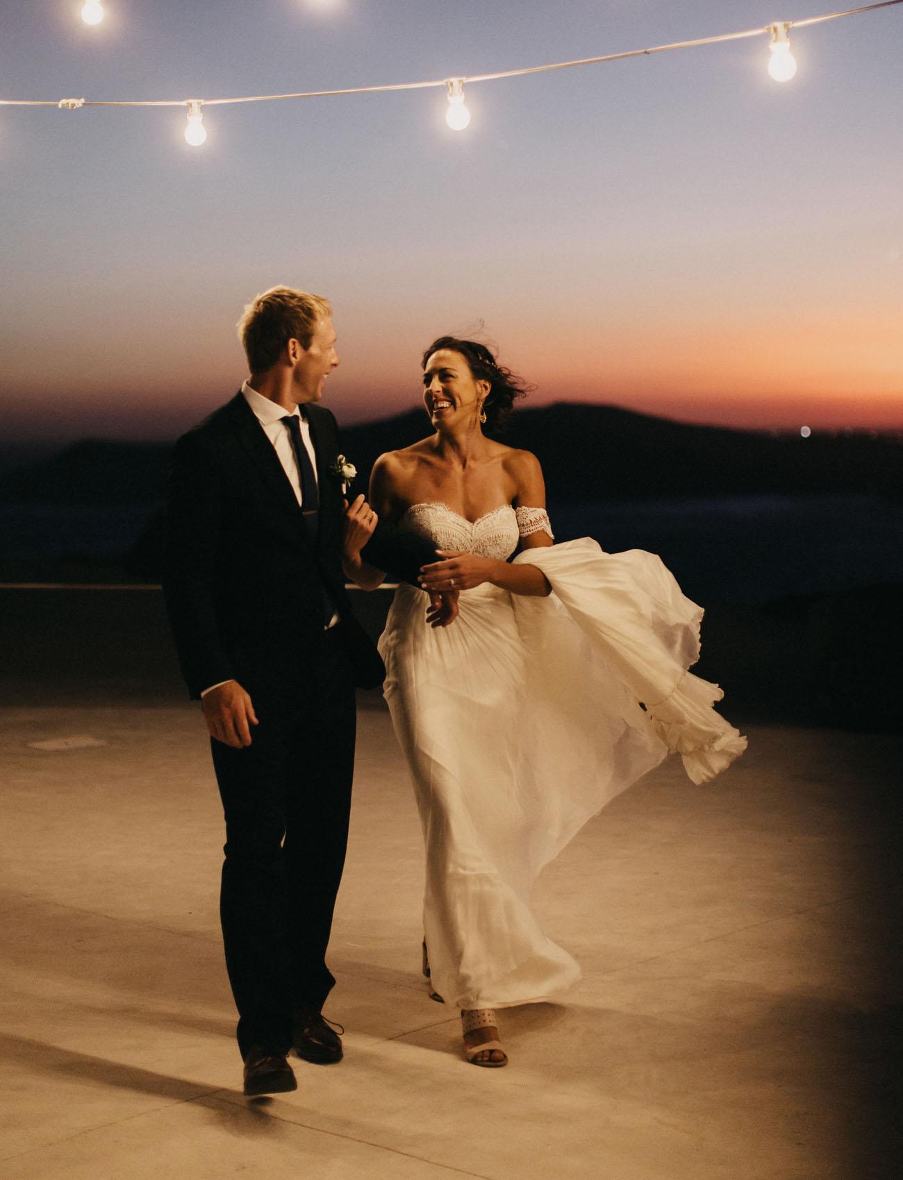 Adventurous Wedding Weekend in Santorini