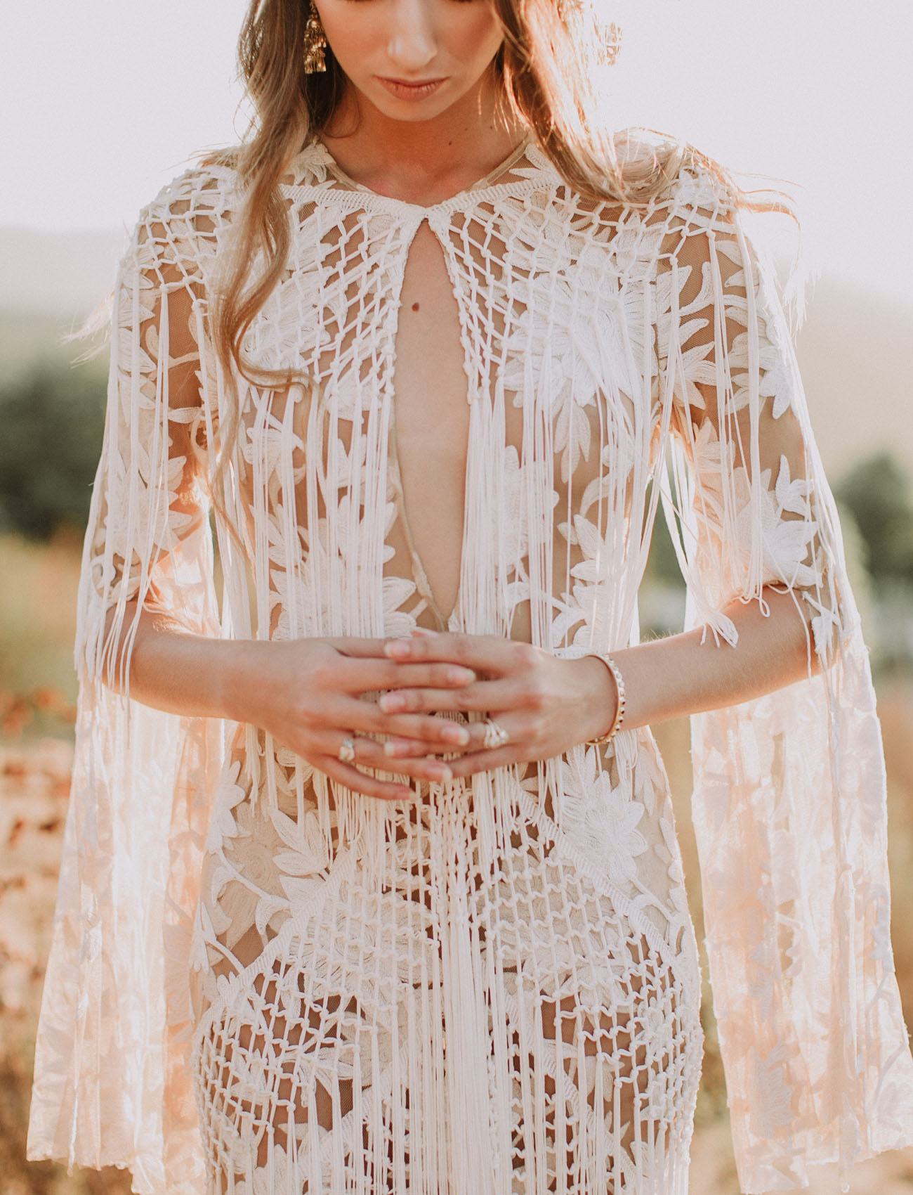 fringe dress details