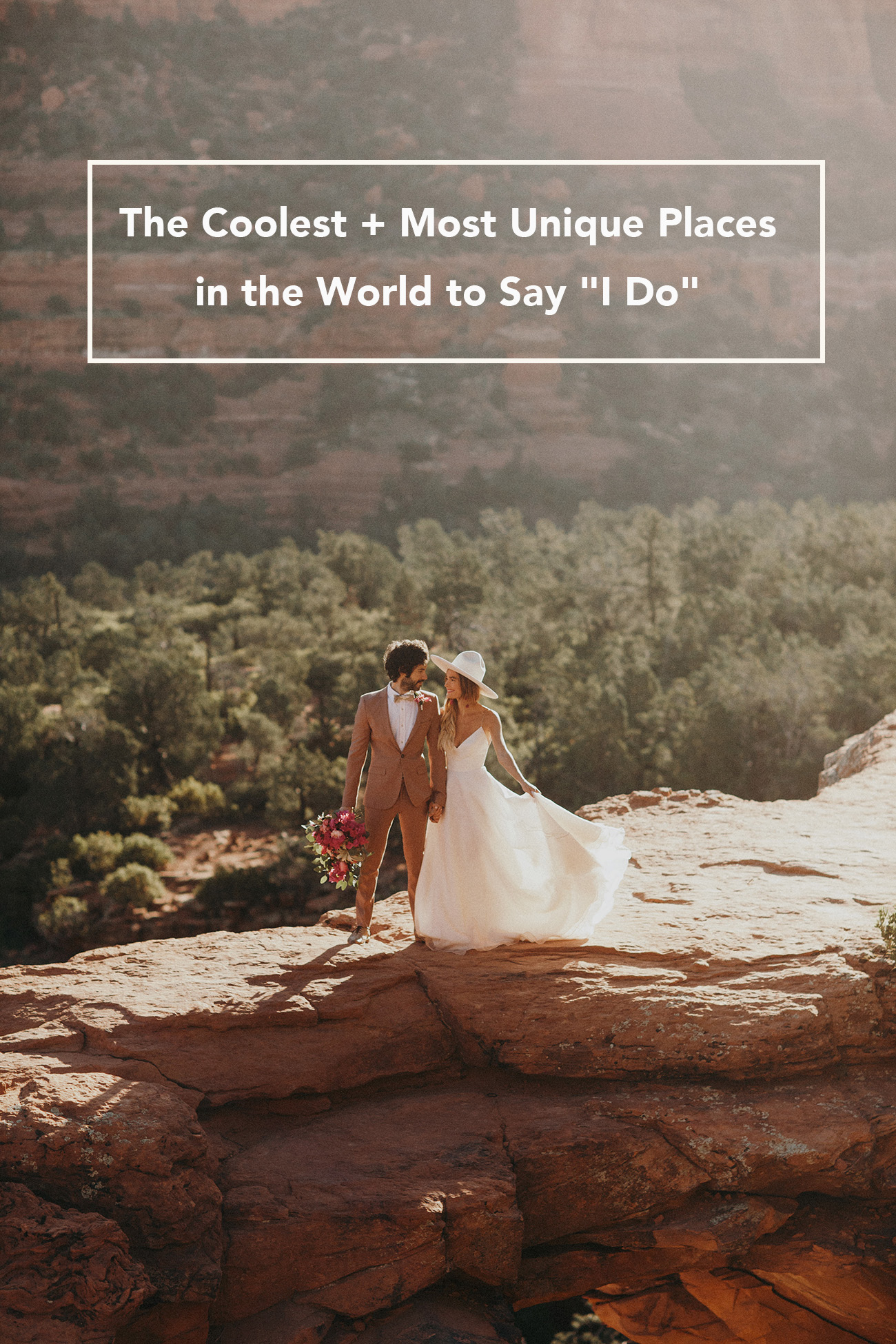 "The Coolest + Most Unique Places in the World to Say ""I Do"""