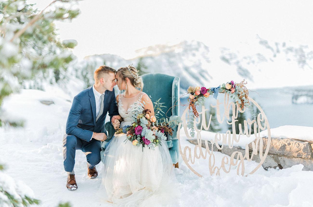 Romantic Elopement at Crater Lake National Park
