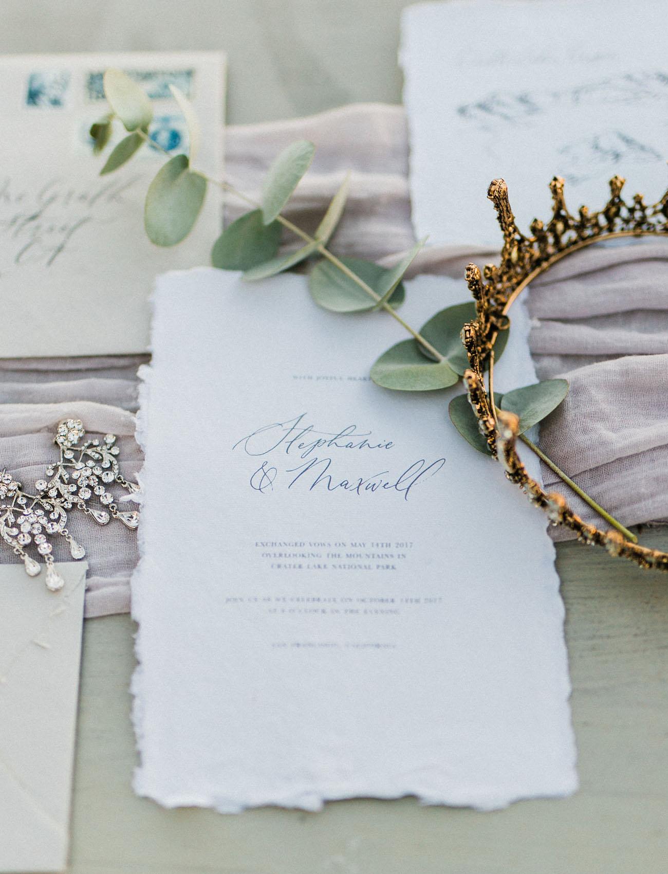 hand torn invitations
