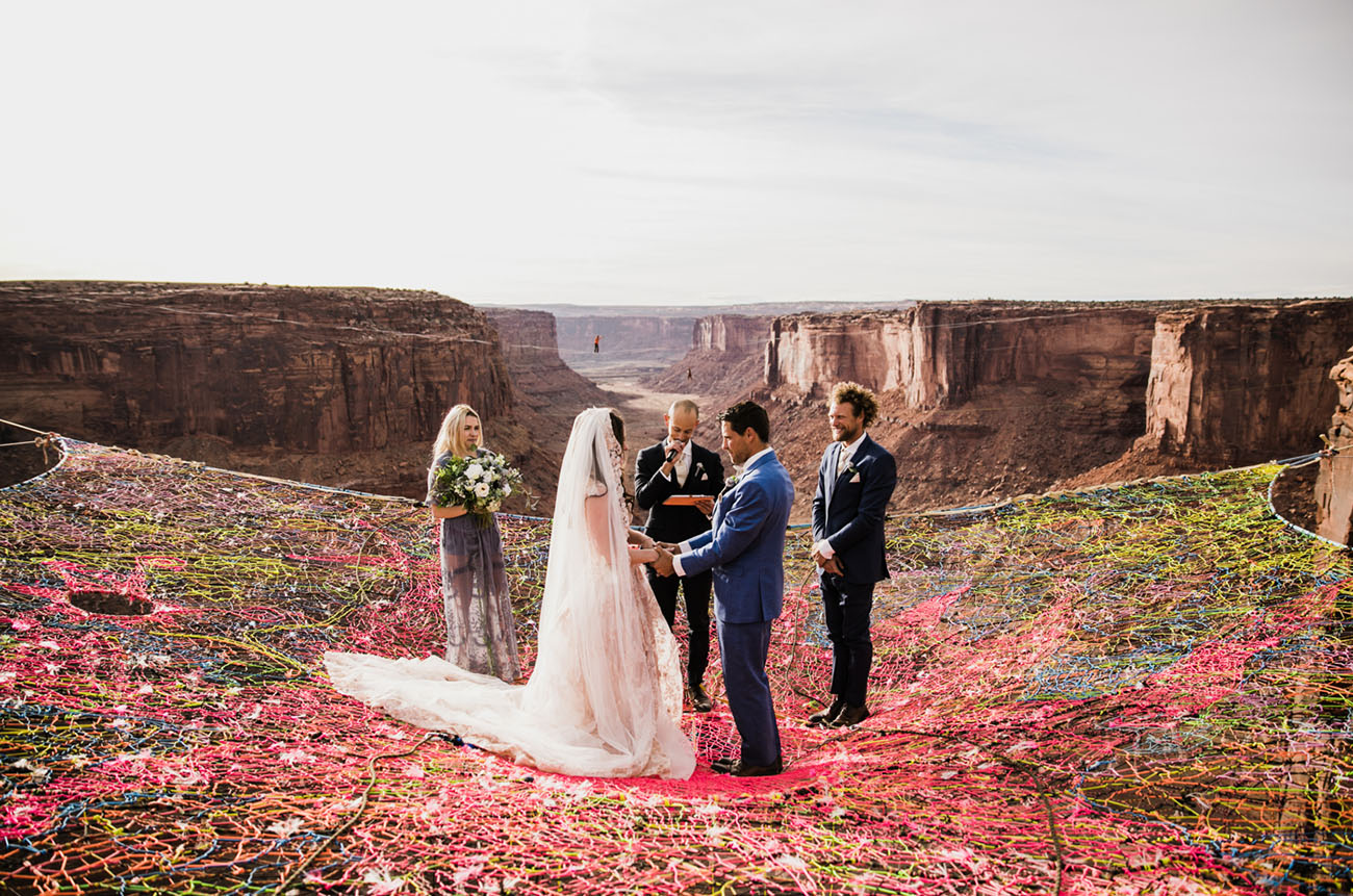 3f39211e51b3b Love is in the Air  A Wedding Suspended 400 Feet Above a Canyon in ...