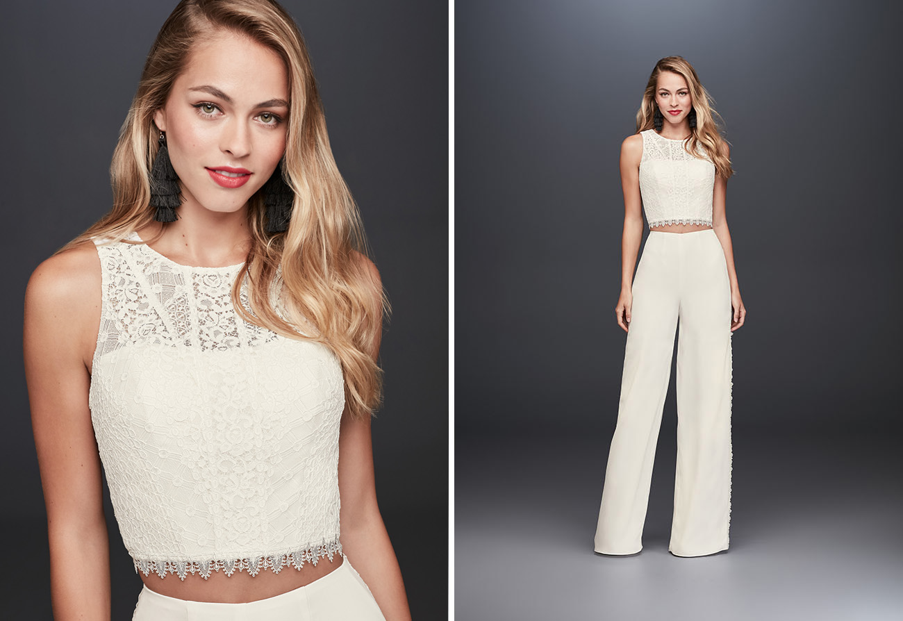 wedding jumpsuit from David's Bridal