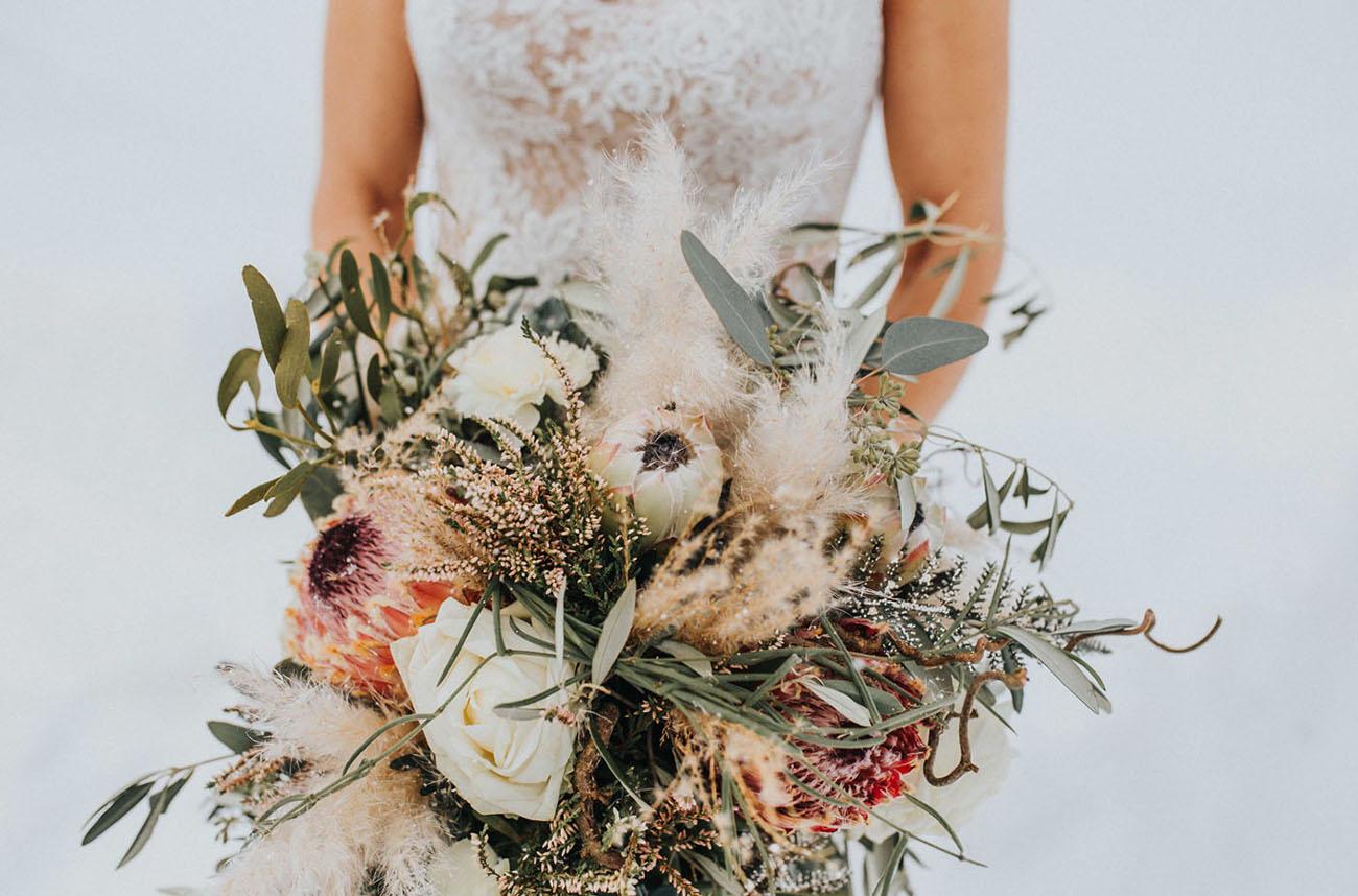 snowy boho bride