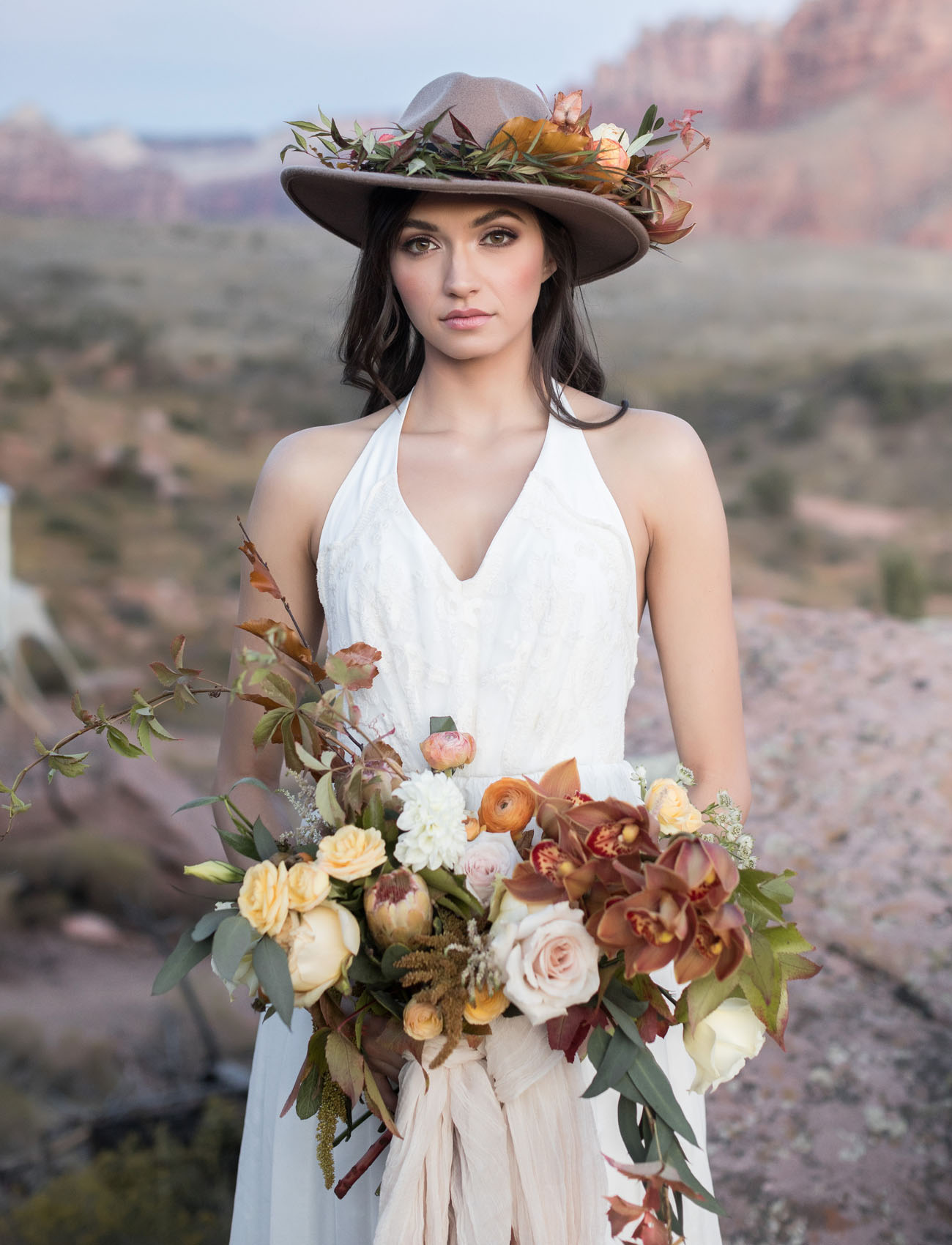 bridal flower hat