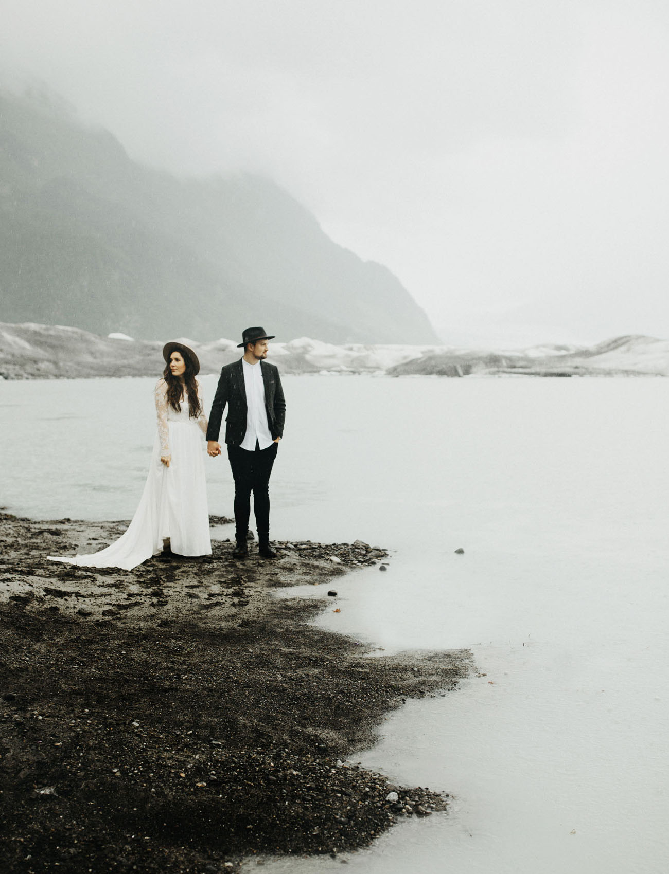 Alaskan Elopement on a Glacier