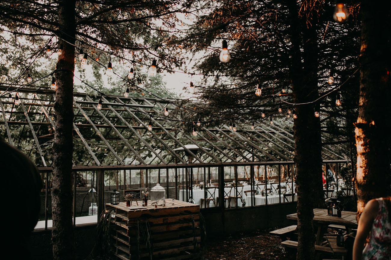 Backyard Greenhouse Wedding
