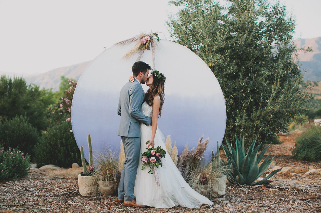 For the Love of Succulents: A Southwestern-Inspired Wedding Brimming with Pastels + Pampas Grass