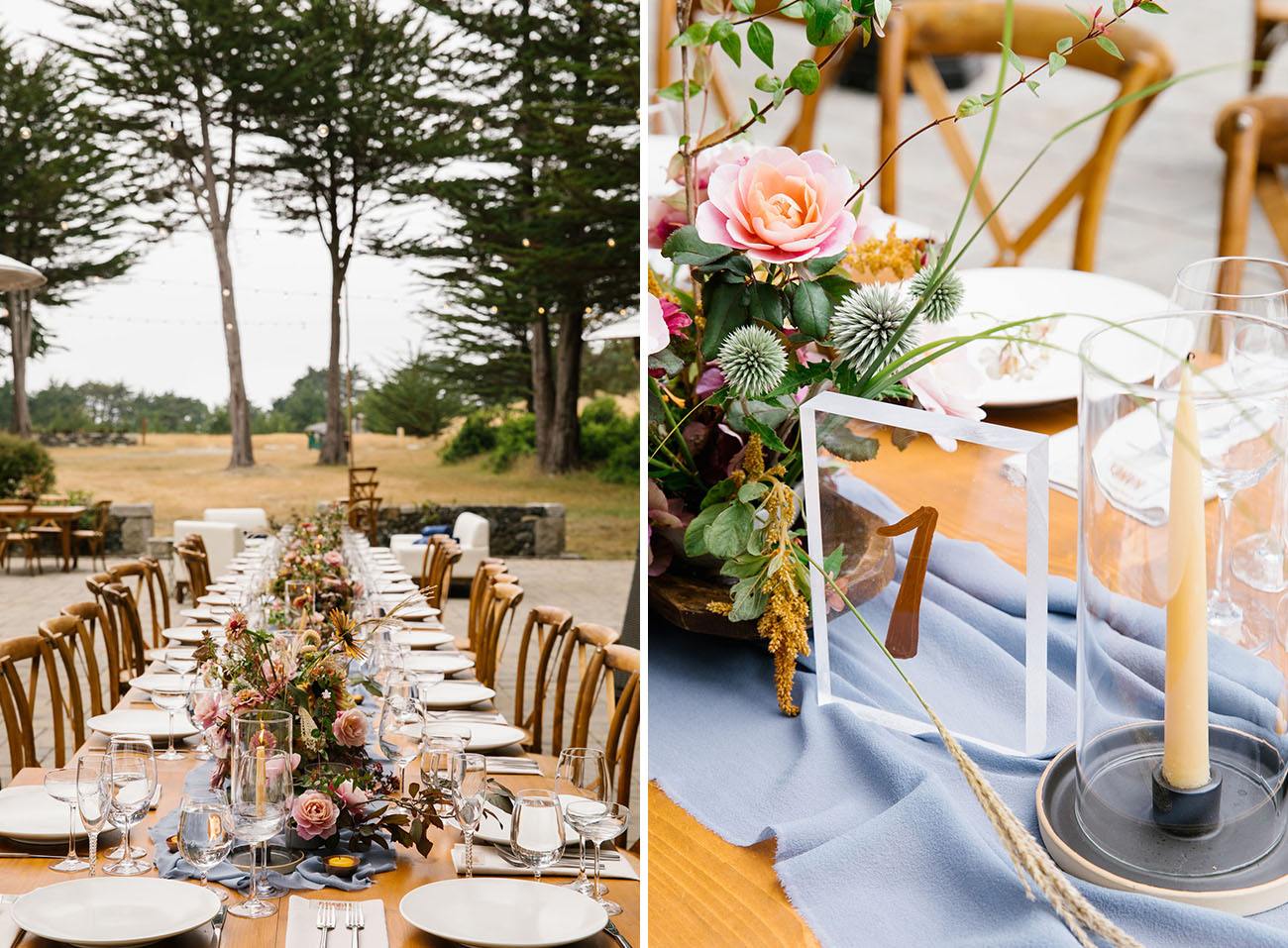 Stylish Mendocino CA wedding