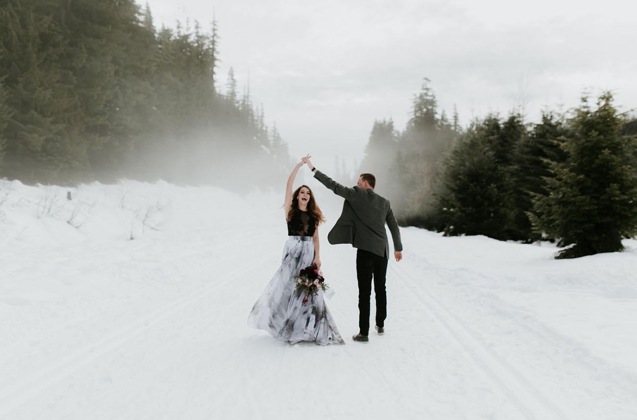 Dark and Moody Winter Wedding Inspiration