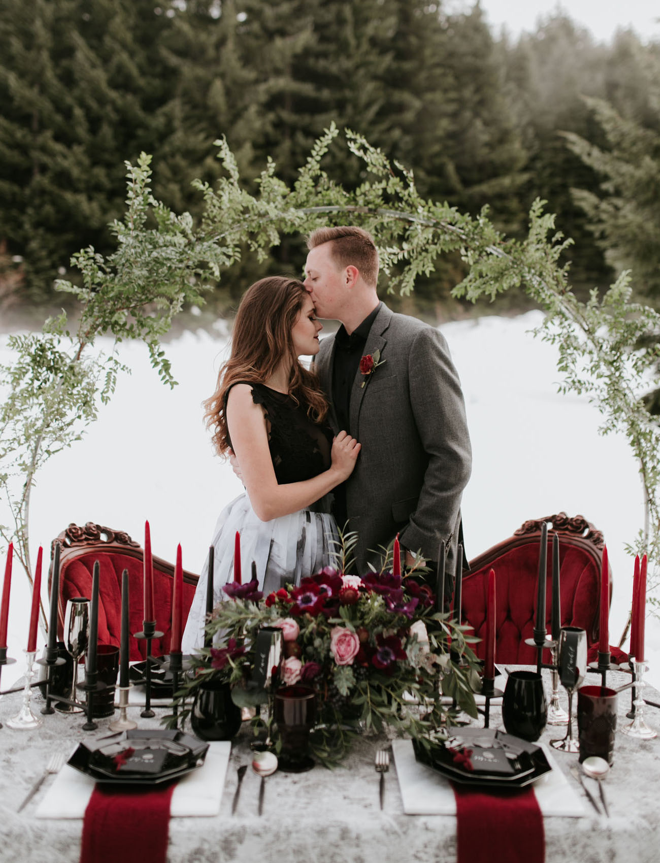 Dark Moody Winter Wedding Inspiration Dripping With